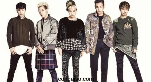 Nhóm BIGBANG với 5 thành viên từ 2006
