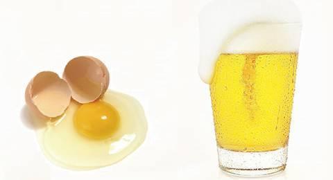 Hỗn hợp bia và trứng