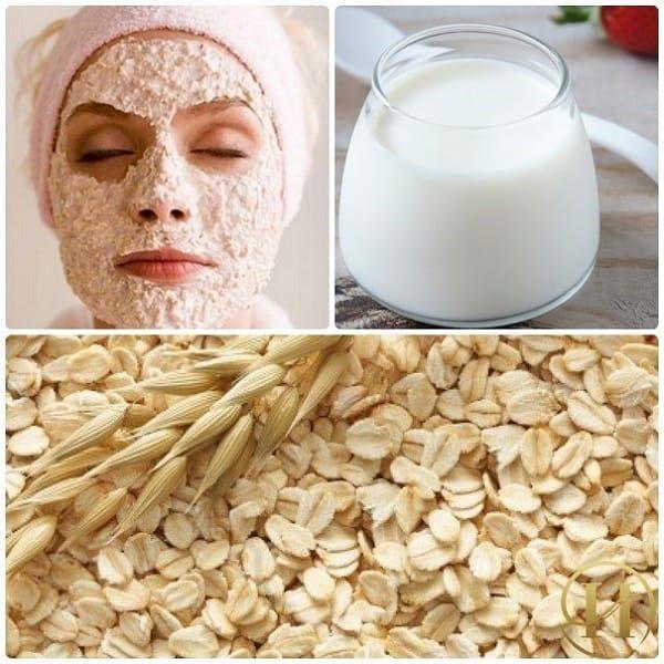 Công thức làm mặt nạ dưỡng da từ yến mạch và sữa chua không đường