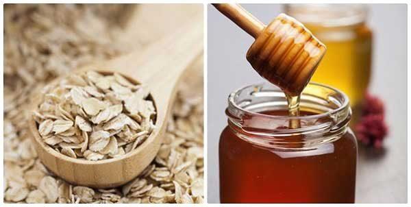 Mặt nạ bột yến mạch, mật ong và nước ấm