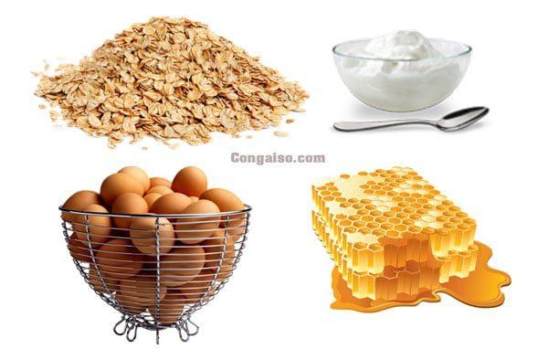 Mặt nạ bột yến mạch, sữa chua, mật ong và trứng gà