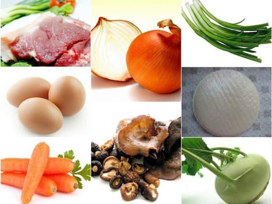 Các nguyên liệu chính của món nem rán