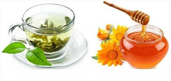 Trị bệnh từ nước trà và mật ong