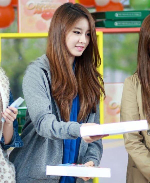 Kiểu tóc đẹp hàn quốc mái dài