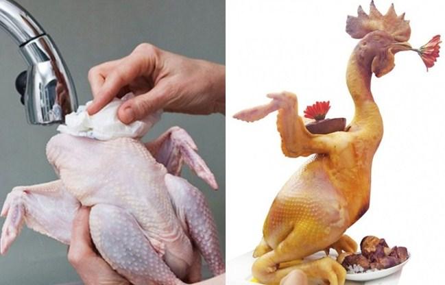 Cách buộc gà cúng đẹp kiểu cánh tiên