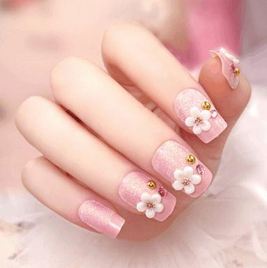 cac mau nail hoa dep