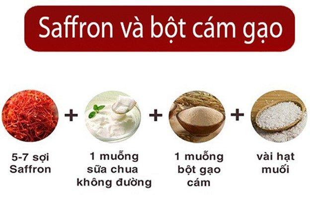 Mặt nạ Saffron cám gạo_2