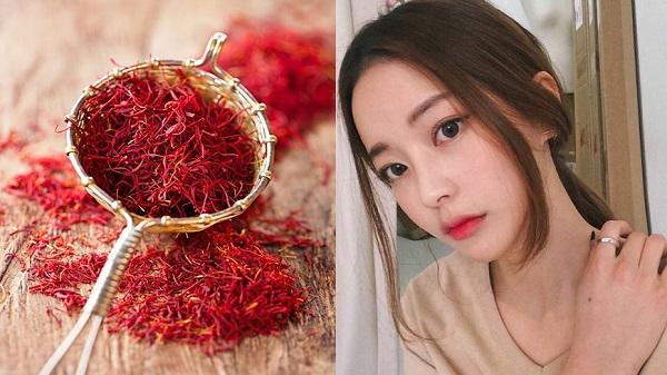Sử dụng ngụy hoa nghệ tây - Saffron để trị thâm