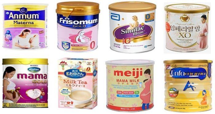Các dòng sữa bột là sản phẩm không thể thiếu dành cho phụ nữ mang thai