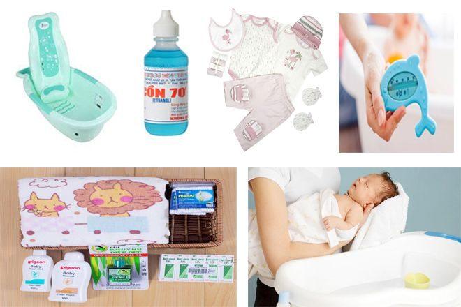Một số đồ dùng cần chuẩn bị trước khi cho bé tắm